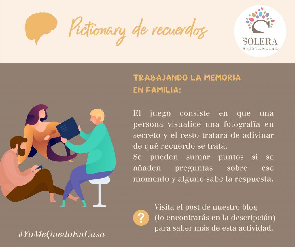 Pictionary de recuerdos Solera #YoMeQuedoEnCasa