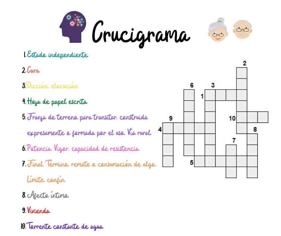 Crucigrama - #ActivaEnCasa